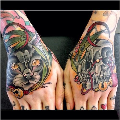 Tatuaje felino negro