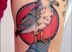 Tatuaje gaviota