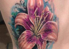Tatuaje lirio tigre