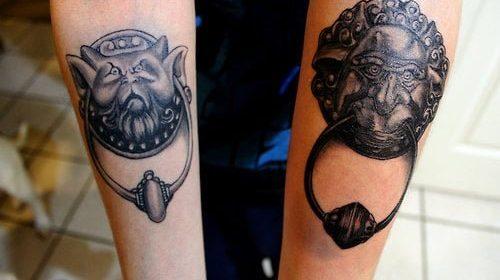 Tatuaje de pareja en blanco y negro