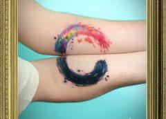 Tatuaje manchas color brazos
