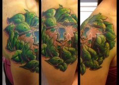Tatuaje puerta fantasía