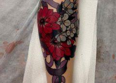Tatuaje ramo de flores