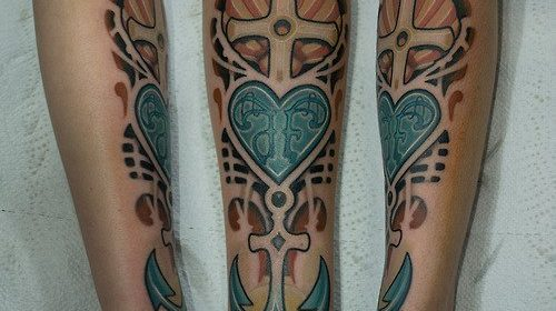 Tatuaje de elefantito de colores