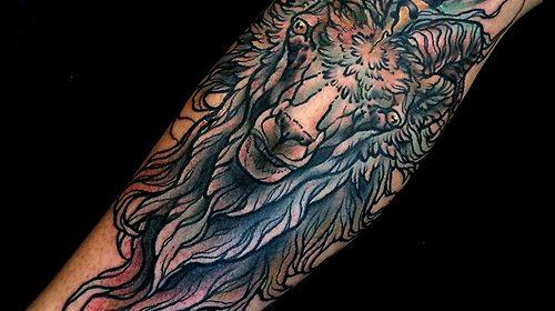 Tatuaje de buhos en la espalda