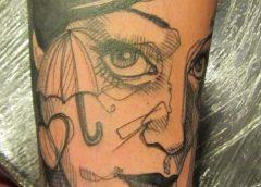 Tatuaje chica paraguas