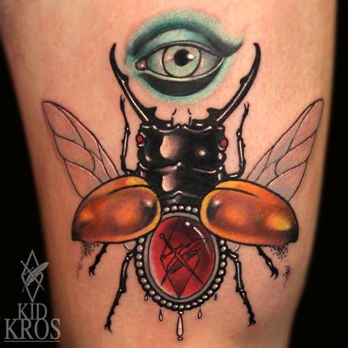 Tatuaje escarabajo