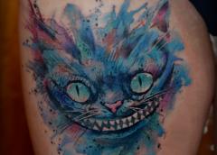 Tatuaje gato Cheshire