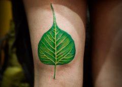 Tatuaje hoja