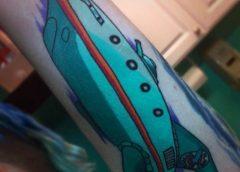 Tatuaje nave Futurama