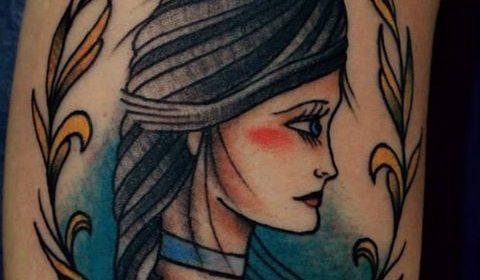 Tatuaje de zorro durmiendo