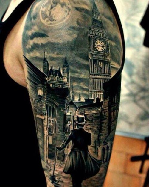 Tatuaje Londres antiguo
