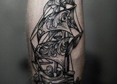 Tatuaje barco antiguo