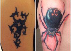 Tatuaje cobertura araña