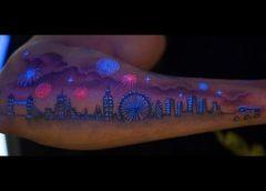 Tatuaje fosforescente Londres