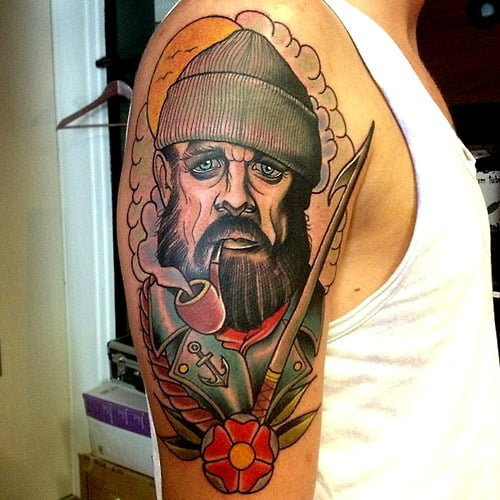 Tatuaje lobo de mar