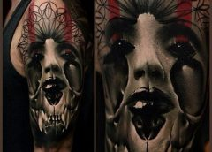 Tatuaje mujer oscura