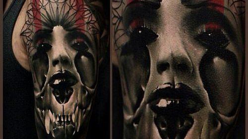 Tatuajes geométricos en los dedos