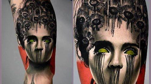 Tatuaje de chica del columpio