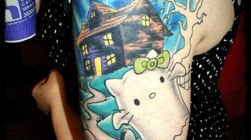 Tatuaje de lobo de perfil