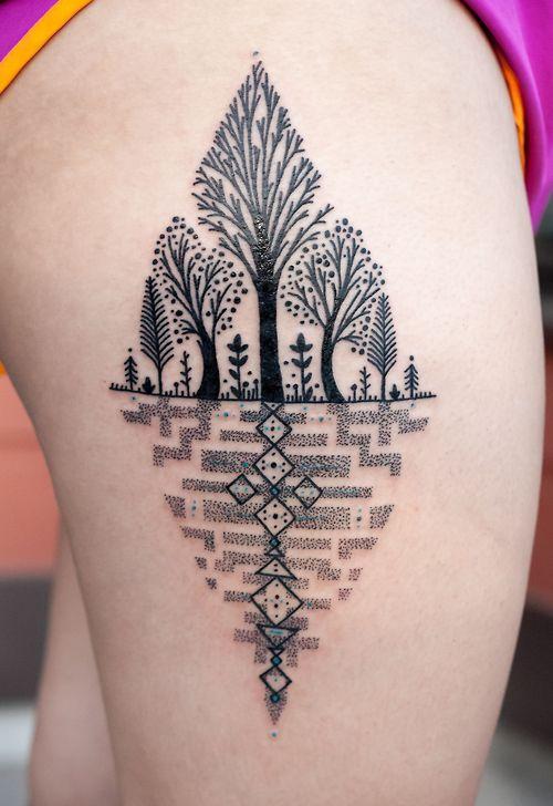 Tatuaje bosque