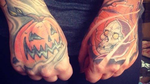 Tatuaje de chica zombi