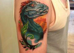 Tatuaje dragón azul