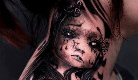 Tatuaje de payaso Pennywise