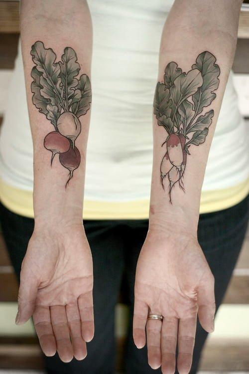 Tatuajes frutos otoño