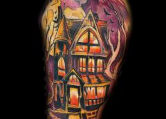 tatuaje casa encantada