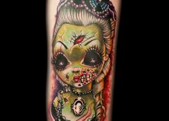tatuaje chica zombi