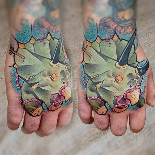 Tatuaje Triceraptops