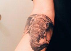 Tatuaje cabeza de elefante