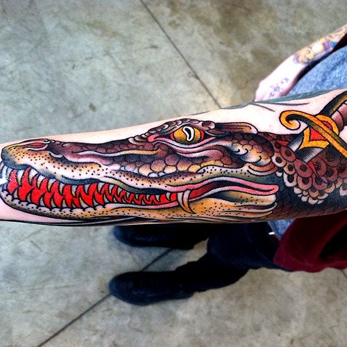 Tatuaje caimán