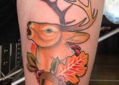 Tatuaje ciervo de perfil