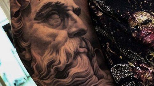 Tatuaje de elefante azul