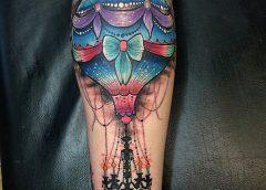 Tatuaje lámpara-globo
