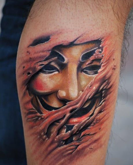 Tatuaje máscara Anonymous