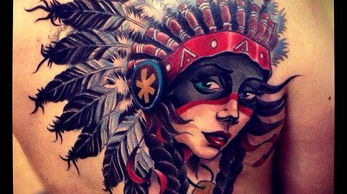 tatuaje india americana
