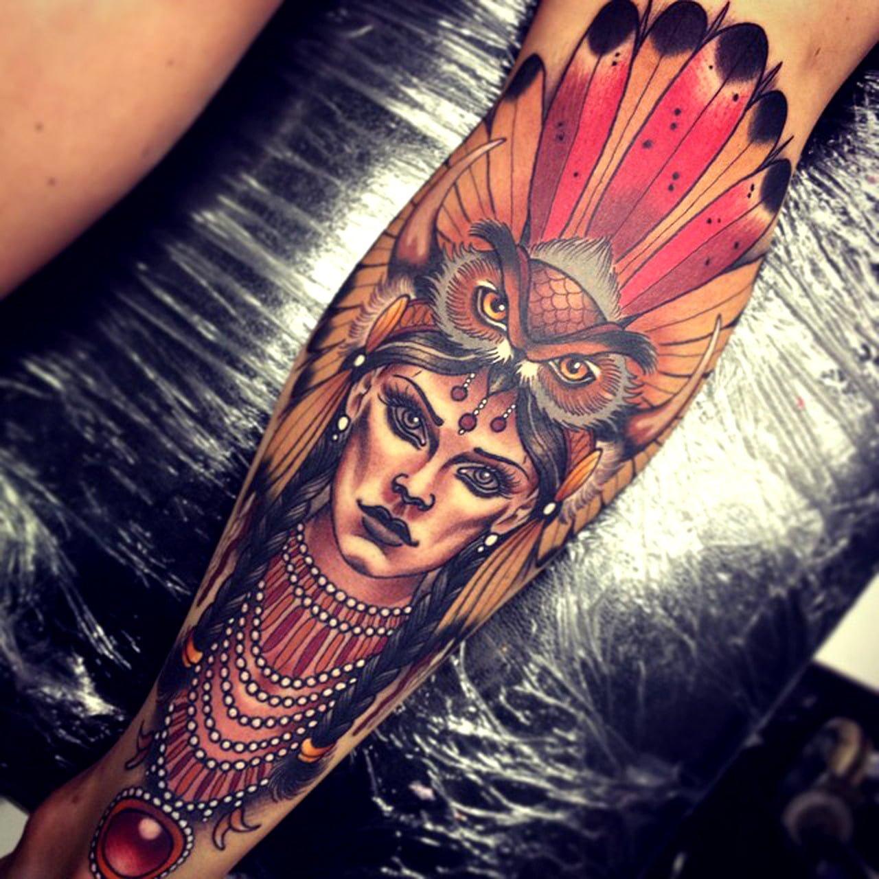 Tatuaje chamán indio