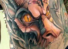 Tatuaje dragón de piedra
