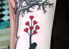 Tatuaje silueta niña