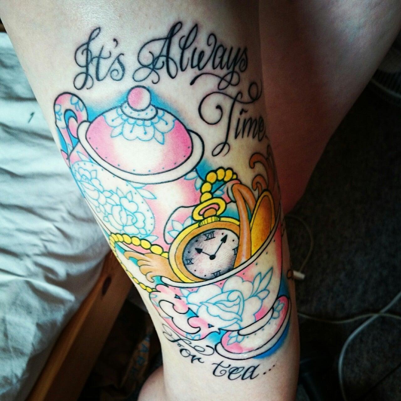 Tatuaje taza y tetera