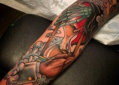 Tatuaje Vida contra muerte
