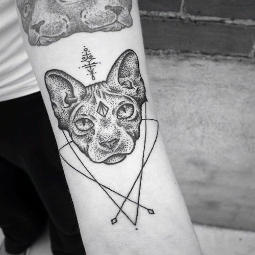 Tatuaje cabeza de Sphinx