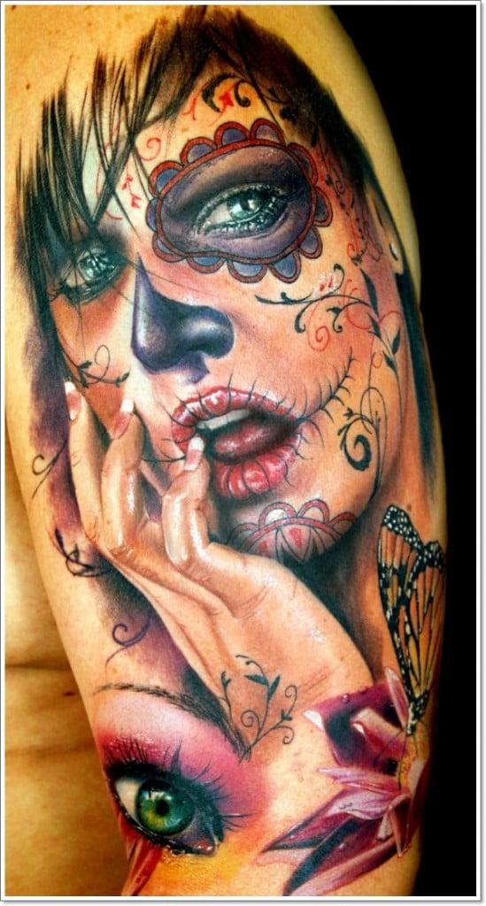 Tatuaje día de los muertos
