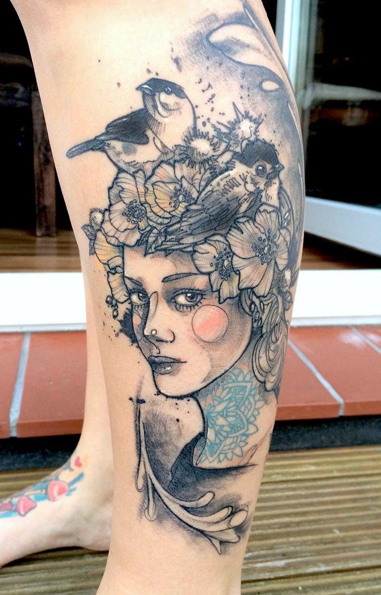 Tatuaje de Flora
