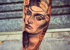 Tatuaje diosa lunar
