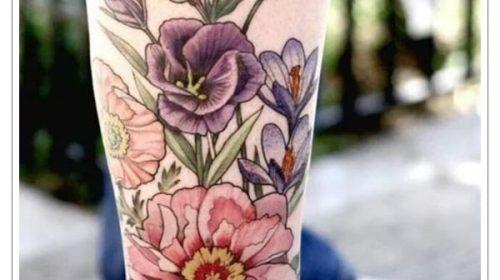 Tatuaje de mujer con cuernos de carnero