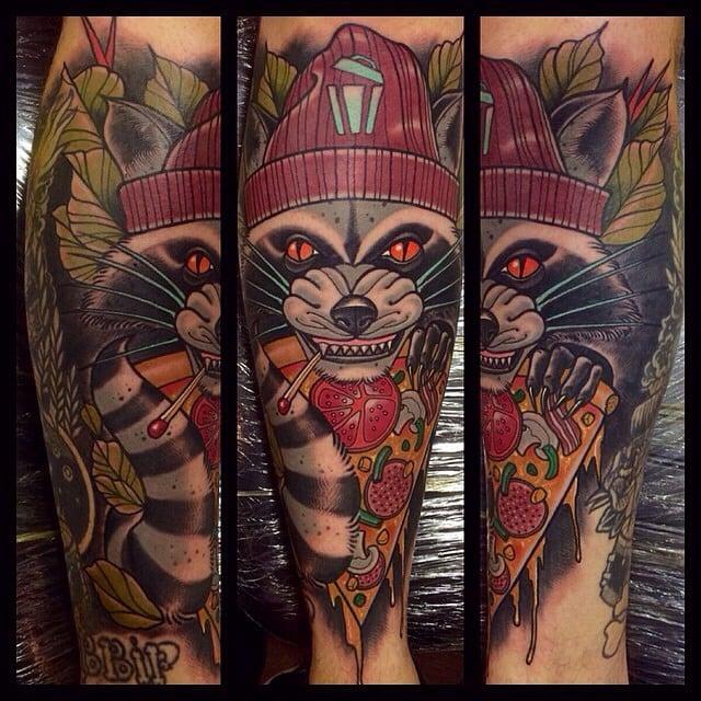 Tatuaje mapache